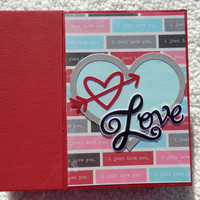 6x6 Love or Valentines Day Chipboard Scrapbook Album