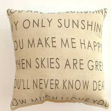 SALE - Modernized You are My Sunshine Pillow