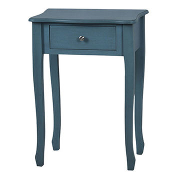 Crestview Vivid Collection Distressed Blue End Table 1