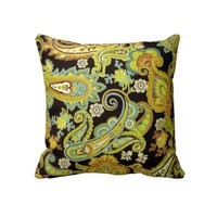 Pillow - Retro paisley cushion from Zazzle.com