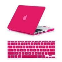 SmackTom(TM) 2 in 1 Rubberized Matte Hard Case Cover For Apple® MacBook Pro® 13 Inch A1278-Hot Pink