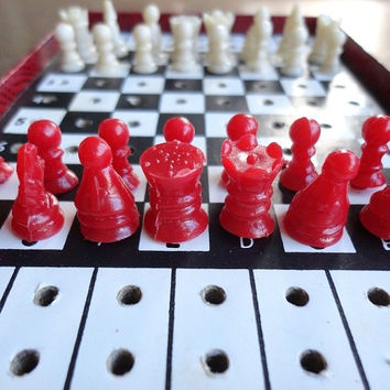 Vintage Travel Chess Game