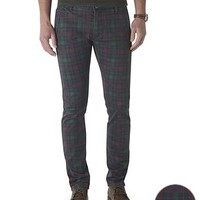 Dockers Alpha Khaki Pants, Skinny Tapered - Green Grove Plaid - Men's