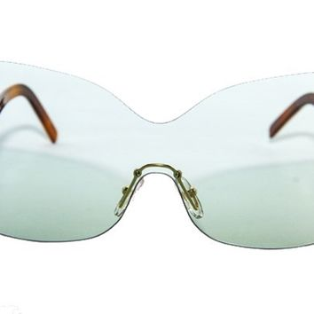 Fendi Unisex Designer Eye Sunglasses Aqua and Havana with Case 5273467