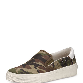Nikitabis Camouflage Studded Sneaker, Army/White