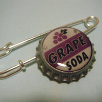 Up Inspired Ellie's Grape Soda Bottlecap Brooch Pin
