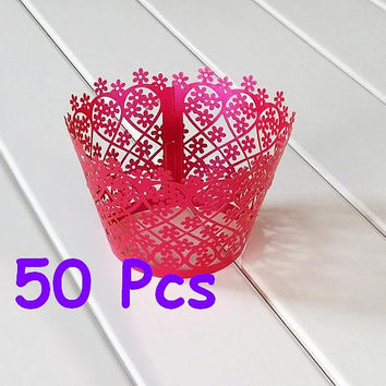 Flower fence Cupcake Wrappers Stencil floral plants laser cut wrapper Garden flower lace wrapper handmade cake wrapper party cake ornament
