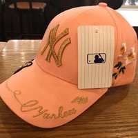 """NY"" embroidery Strap Cap Adjustable Golf Snapback Baseball Hat"