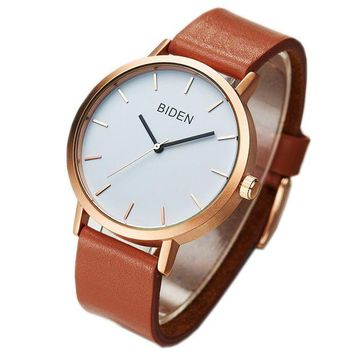 LMFON Biden Watch,Unisex Super Light Casual Fashion Simple Analog Watch For Men/Women/Teens Leather Wrist Watch