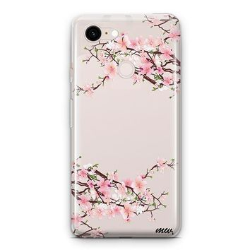 Cherry Blossom Google Pixel 3 Clear Case