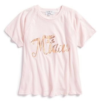 Girl's Wildfox 'Miaou - Perfect' Graphic Cotton Tee,