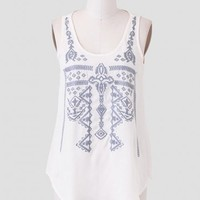 Far From Here Embroidered Tank