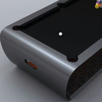 BlackLight Pool Table by Toulet