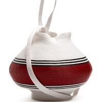 Striped woven-straw jug bag | Rosie Assoulin | MATCHESFASHION.COM US