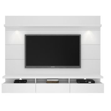 Cabrini 2.2 Floating Wall Theater Entertainment Center in White Gloss