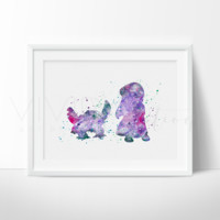 Pelekai, Lilo & Stitch Watercolor Art Print