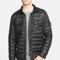 Men's Stone Island Quilted Down Shirt Jacket,