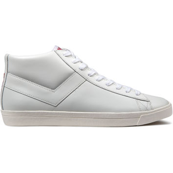 PONY White/White Perf Topstar Hi Leather Sneakers | HYPEBEAST Store. Shop Online for Men's Fashion, Streetwear, Sneakers, Accessories