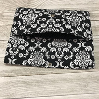 Black and White Damask Print Wallet