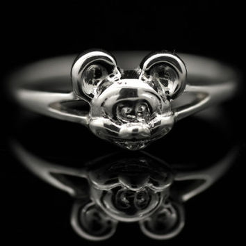 Sterling Silver 925  Mickey Mouse Disney Ring