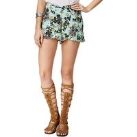 Free People Womens Floral Print Flat Front Casual Shorts