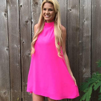 Lexi Dress in Pink Punch