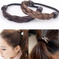 HEXIN Korean Popular Wig Hair Band Braid Hair accessories,Synthetic Wig Hair Rope Ponytail Elastic Hair Rope = 1696951300
