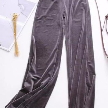 Women Velvet Warm Haren Pants