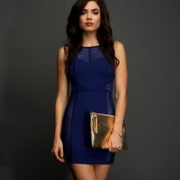 Sale-royal Illusion Caged Dress