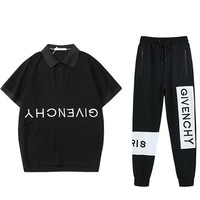 Givenchy Men Fashion Casual Short Sleeve Pants Trousers Set Two-Piece