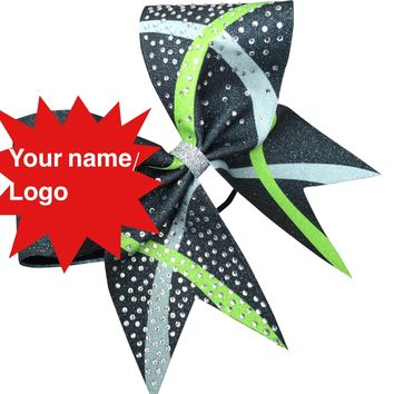 Sublimated bow . You choose 3 colors , add your bame or logo.