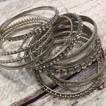 Stacking up the Silver Bracelet