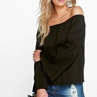 Jane Off The Shoulder Flute Sleeve Top