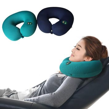 Hot Sell 1pc Portable Neck Rest Massager U Shape Electric Nap Pillow Massage for Home Office Train Plane Traveling HB88