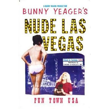 Bunny Yeagers Nude Las Vegas Movie poster Metal Sign Wall Art 8in x 12in