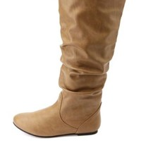 Slouchy Flat Knee-High Boots by Charlotte Russe