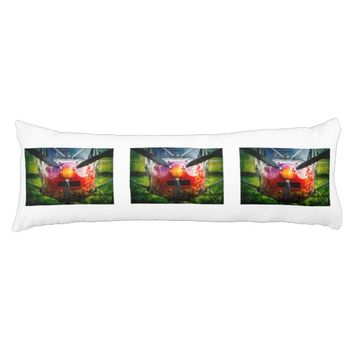 Red Aircraft - Small But Fierce Body Pillow