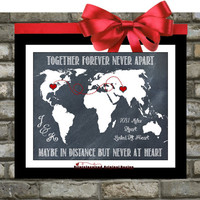 Gift For Best Friend Sister Long Distance Relationship: Personalized Bike Bicycle Print Parents Family Couple Quotes Hearts Gifts Under 20