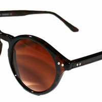"Vintage Style Deadstock ""Elias"" Sunglasses in Tortoise Shell"