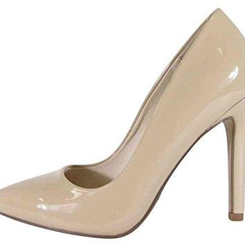 Cambridge Select Womens Classic Closed Pointed Toe SlipOn Stiletto High Heel Pump