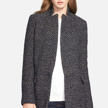 Women's BCBGeneration Inverted Notch Tweed Coat,