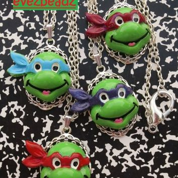 (4) Teenage Mutant Ninja Turtles Best Friends/Party Favor Necklaces