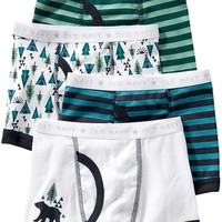Old Navy Patterned Boxer Brief 4 Packs For Baby