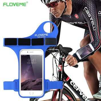 "FLOVEME Thumb Arm Band Cycling Phone Bag For iPhone 7 6 6S Plus For Samsung S8 S6 S7 Huawei P10 P9 Plus Xiaomi 6 Case 4.7"" 5.5"""
