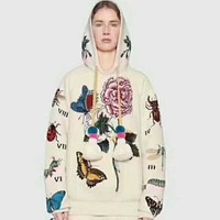 DCCKHI2 GUCCI flower rose print sweater hoodie pullover I-AGG-CZDL Tagre-