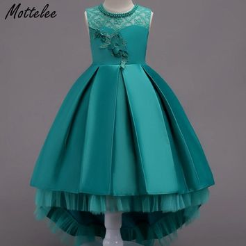 Mottelee Girls Mermaid Lace Dress Teen Kids Birthday Party Dresses Flower Wedding Dress Children Prom Clothing for Teenage