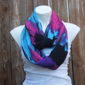 Cool Blue Infinity Scarf