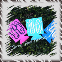 Monogram Koozie Cozy Monogrammed Koozie Personalized Coozie Monogrammed Coozie Preppy Monogram Koozie Monogram Gifts Wedding Gifts Bridemaid