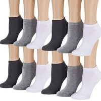 Tipi Toe Women's 12-Pairs Low Cut / No Show Athletic Sport Socks