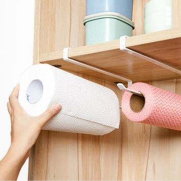 Kitchen Cupboard Towel Bathroom Roll Paper Rack Holder